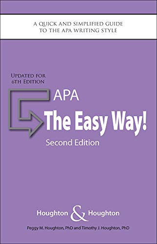 Download APA: The Easy Way!: Updated for the APA 6th Edition 0923568964