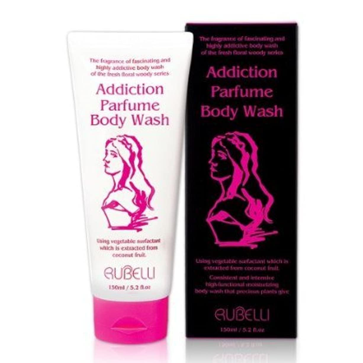暖かくバルーン有害[Rubelli]+[addiction parfume body wash]+[150ml / high-functional moisturizing, floral scent parfume body wash, body wash with attractive scent]+ [pink]+[5.2 fl.oz]