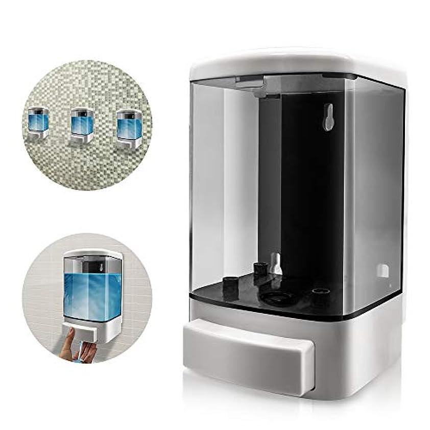 重要なよろしく広げるtopeur 1000 ml手動ソープディスペンサープラスチック壁マウントシャンプーコンディショナーシャワージェルChamber Soapポンプディスペンサーバスルームやキッチンの