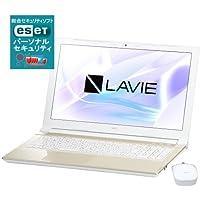 【セキュリティセット】NEC LAVIE Smart NS Windows10 Home 64bit 第7世代Celeron 4GB 500GB DVDスーパーマルチ 高速無線LANac Bluetooth webカメラ 10キー付日本語キーボード ヤマハ製AudioEngine機能搭載 Microsoft Office H&B 15.6型液晶ノートパソコン ワイヤレスマウス・ESETセキュリティソフト1年版同梱 (シャンパンゴールド)