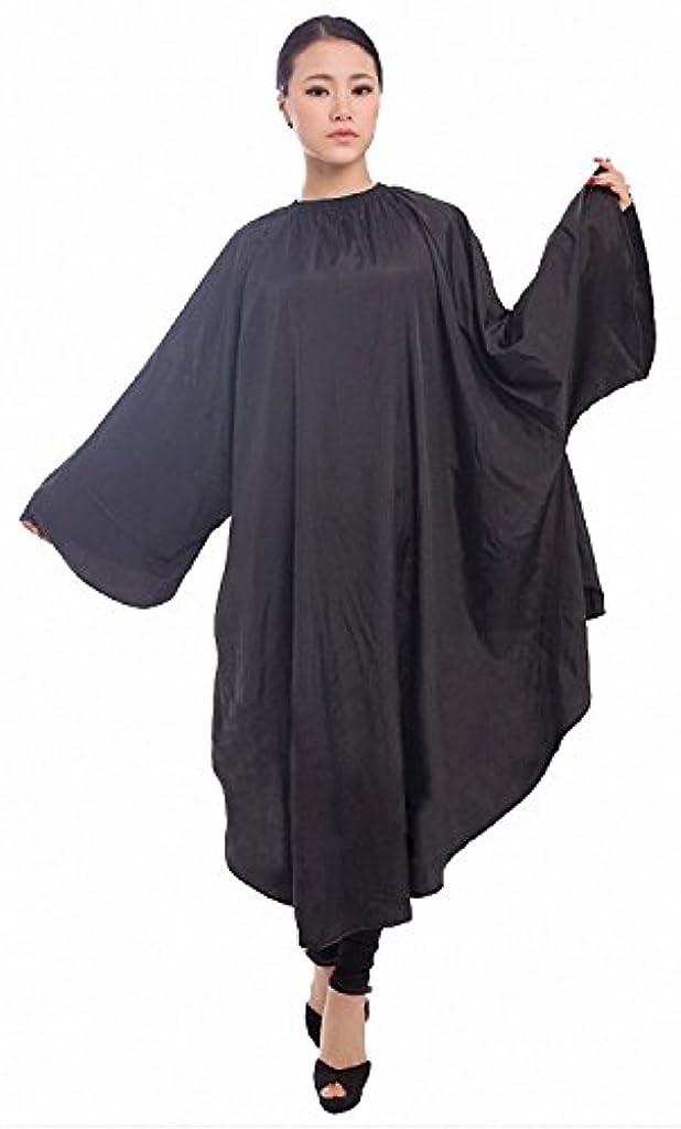 シェル洗う絵ヘアサロン用 ヘアカット ガウン カラーリング ケープ(黒)