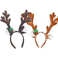 hraindrop 2パックReindeer Antlers Headbandクリスマス