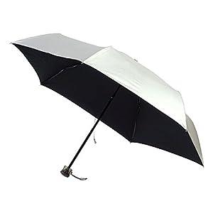 折りたたみ傘 手開き 日傘/晴雨兼用傘 シルバークールコーティング シルバー/ブラック 6本骨 50cm 3サイズ 軽量 UVカット グラスファイバー骨 3942