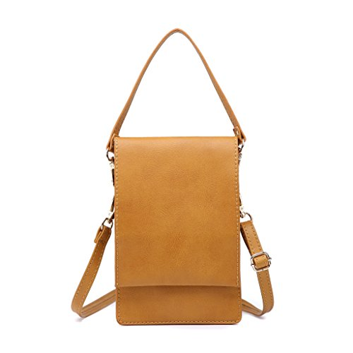 小さなショルダーバッグ、携帯も入れる女性クロスボディパースミニポーチ女性財布 (XS, キャメル)