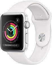 Apple?Watch Series?3(GPSモデル)- 42mmシルバーアルミニウムケースとホワイトスポーツバンド