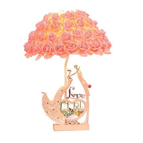 デスクライト 結婚式の記念ロマンチックなベッドサイドランプの高級ラグジュアリークリエイティブホームのベッドルームの装飾テーブルランプのガールフレンド