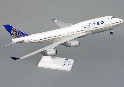 1: 200 スカイマークス ユナイテッド 航空 ボーイング 747-400 Continental Merger Colors, with Landing Gear (並行輸入)