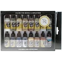 VAL71194 Model Air Set - Weathering Set vallejo paint airbrush paints x 16