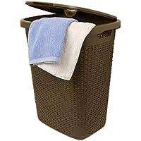 Superio Laundry Hamper (1.4ブッシェル、ブラウン