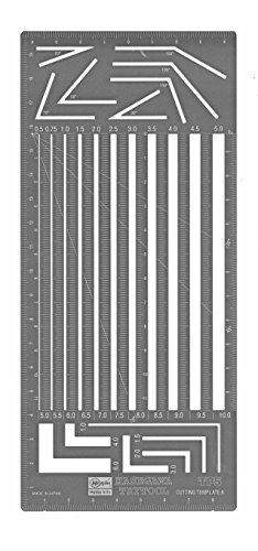 ハセガワ TP5 カッティングテンプレート A 直線平行幅用定規
