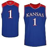 NCAA Kansas Jayhawks # 1Basketball College Jersey–ロイヤルブルー M