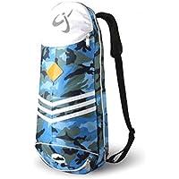 Lanburch 防水バドミントンラケットバッグ テニスラケットバッグ シングルショルダーラケットバッグ 迷彩ブルー