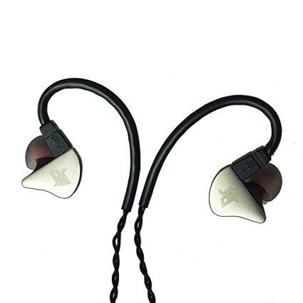 GranVela® R8 IEM はすべての金属で雑音を隔離しような分離できるケーブルと記憶ワイヤーを付きの音楽家の耳内スタイルイヤホン (銀)