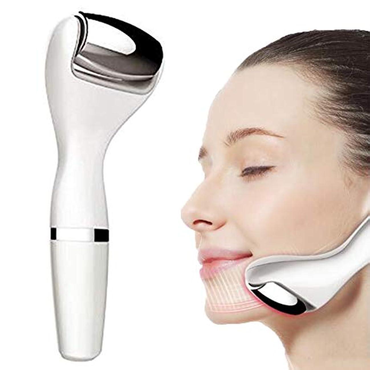 に対応シャットピストル美容機器 - リフティングと引き締め美容機器マイクロ電流細い線の軽減家庭用顔インポートエッセンス振動マッサージ