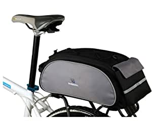 ROSWHEEL ロスホイール サイクル 多機能 自転車リアキャリア取付用 リアバック 13L(黒)