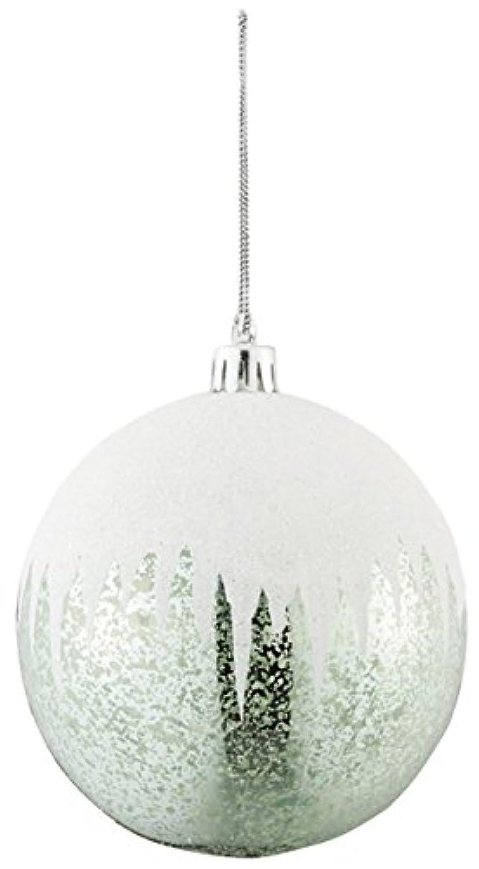 asca クリスマス飾り ボールオーナメント 11×10cm セージグリーン AX68837-000