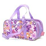 格上スタイルのキッズ絵の具バッグ(バッグのみ) フラワー・パープル 日本製 N2117500