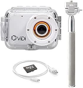 ViDi Camera サッカー元ブラジル代表の「ロナウジーニョ」がアンバサダーをつとめるアクションカメラ 超扱いやすい プロ級の撮影が可能となる アクションカメラ ヴィディ カメラ 防水 ホワイト 4GB SDカード付き