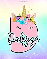 Daleyza: Girls Unicorn Journal to Write In | Personalized Journal