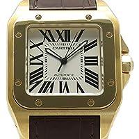 (カルティエ)Cartier 腕時計 サントス100 LMサイズ 初期型限定モデル K18YG/革 W20078Y1 メンズ 中古