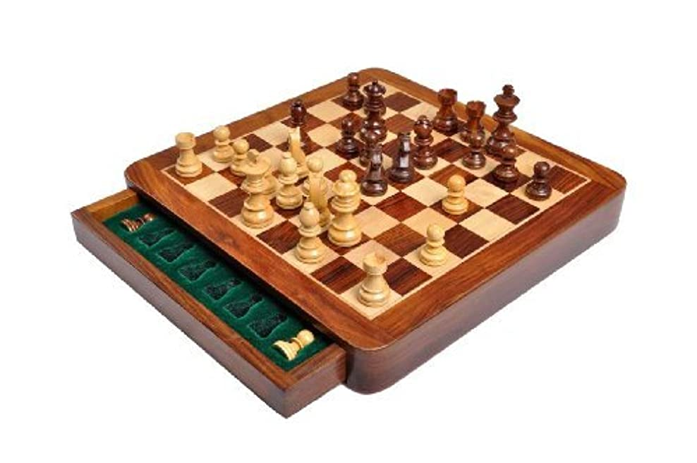 The House of Staunton Square Wooden Magnetic Travel Chess Set - 10' [並行輸入品]