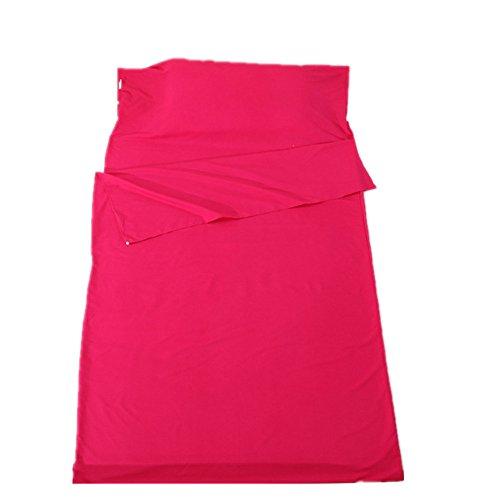 VIOMO 寝袋 シュラフ コンパクト 封筒型 綿製 軽量 収納袋付き 災害対策 車中泊 丸洗い可能 (ピンク, 1人用)