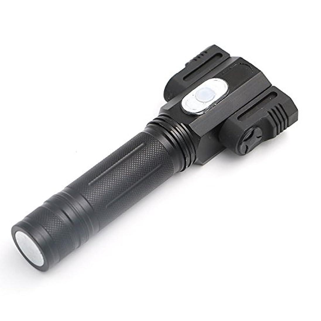 アヒルシェア創傷(キュミオ) QeMIO LED懐中電灯 ハンディライト ズーム式4モード 夜釣りライト アウトドア 高輝度 防水 -07D06