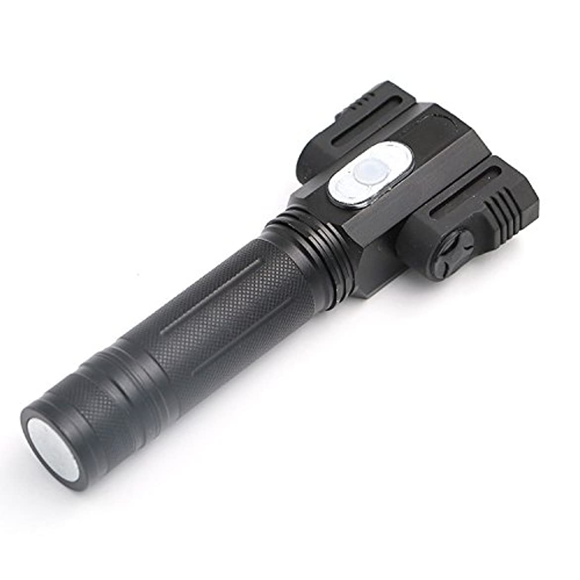 カーテンリングレット時制(キュミオ) QeMIO LED懐中電灯 ハンディライト ズーム式4モード 夜釣りライト アウトドア 高輝度 防水 -07D06