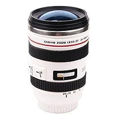 第6世代 [Caniam] キャノン カメラ  一眼レフ 24~105ミリ レンズ型 保温 ステンレス マグカップ タンブラーホワイト Caniam 【インポート】