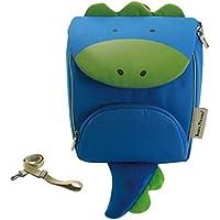 CXQ かわいい子供のスクールバッグ幼稚園1?4歳の少年少女青い小さな恐竜の漫画の肩反ロストバックパック (Color : L)