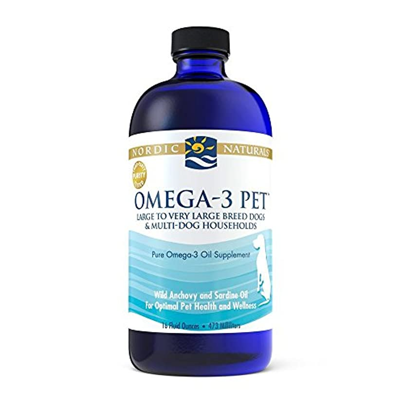 親密な自宅で巡礼者Nordic Naturals Fish Oil OMEGA-3 Essential Fatty Acid for Dogs + Cats 16 oz 海外直送品