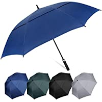 """AOACreations Golf Stick Umbrella 62"""" Extra Large Oversize Double Canopy Vented Windproof Automatic Open"""