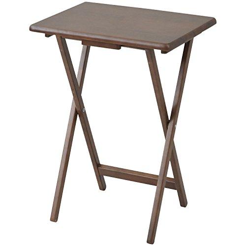 山善(YAMAZEN) 折りたたみサイドテーブルテーブル サイドテーブル 折りたたみテーブル フレッシュブラウン STR-50H(FBR)
