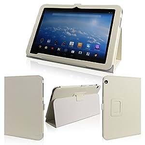 wisers 保護フィルム・タッチペン付 東芝 Toshiba Android (TM) タブレット A204YB Yahoo! BB 専用モデル 専用 ケース カバー ホワイト