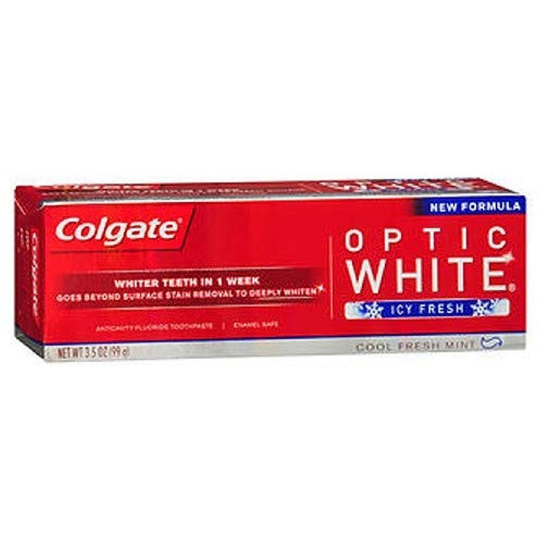 吹雪しなやか我慢するColgate Optic White コルゲート Icy Fresh アドバンス ホワイトニング 99g