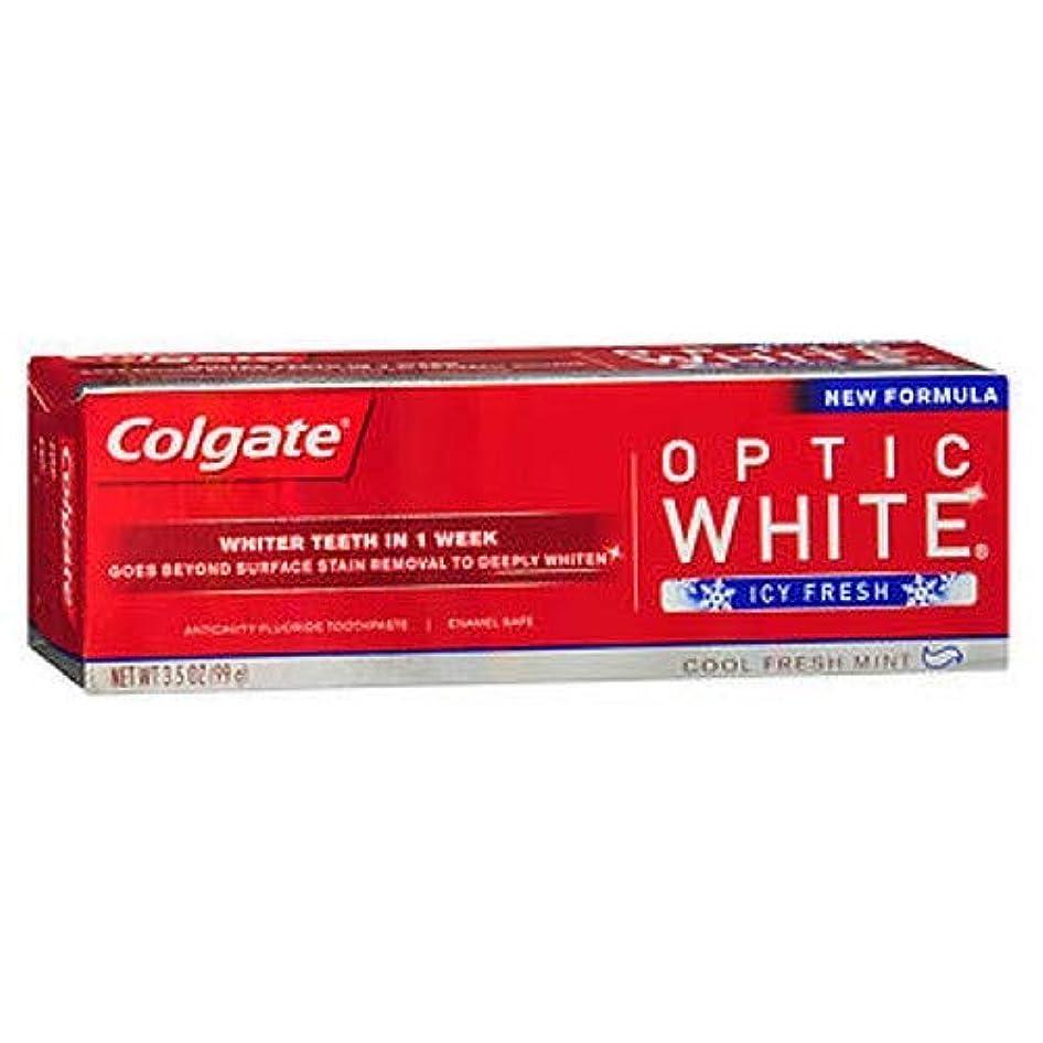 見込み浅い寝てるColgate Optic White コルゲート Icy Fresh アドバンス ホワイトニング 99g