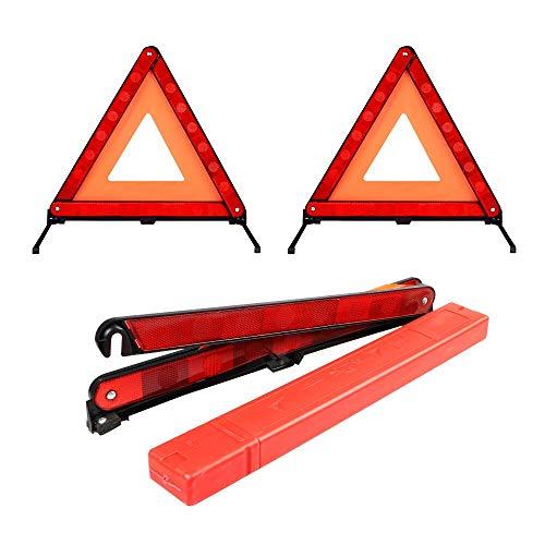 三角停止板 2枚 三角反射板 自動車用 折りたたみ式 緊急停...