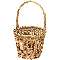 ンハンドルフラワーポットバスケット/バスケットのタイプ:細編み