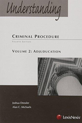 Download Understanding Criminal Procedure: Adjudication 1630442461