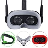 Esimen VR Face Silicone Mask Pad & Face Cover for Oculus Quest Face Cushion Cover Sweatproof Lightproof (Gray)