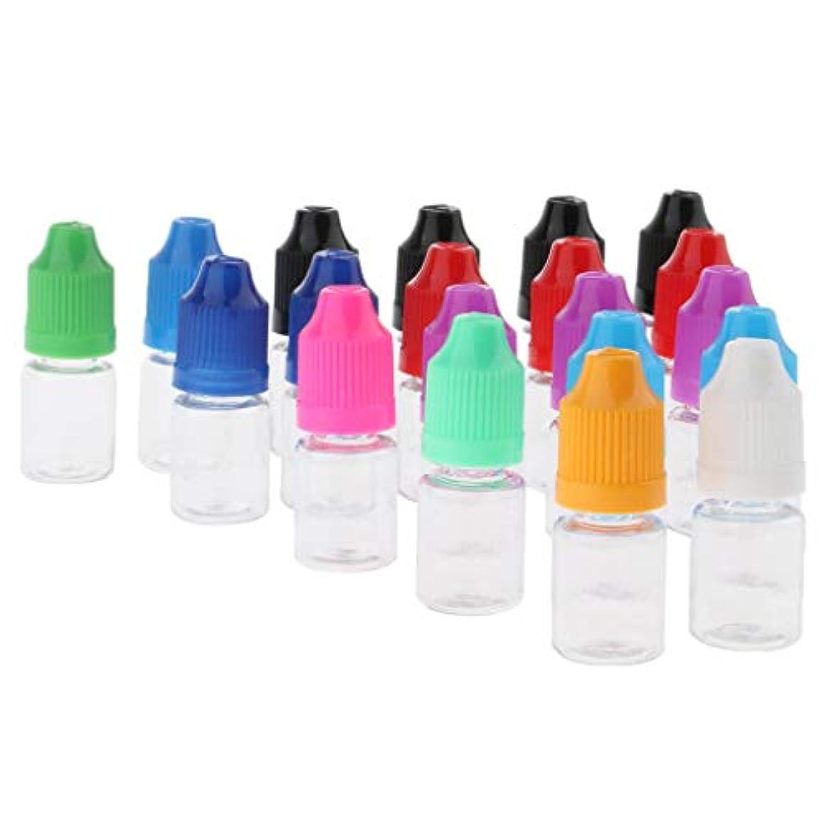 ギター倍増申請中約20個 香水ボトル ドロッパー付き メイクアップボトル 旅行 小分け容器 2サイズ選べ - 5ミリリットル