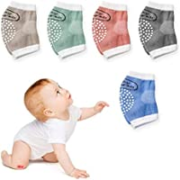 DaZone Baby Crawling Knee Pads, Elastic Anti-Slip and Protect Infants & Toddlers Knees/Elbows/Legs for Boys and Girls 5 Pack(Unisex)