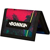 """BONNE ('bone') Graphic Trifold Wallet with Zipper Coin Pocket - Sporty, Outdoor Gear, Stylish, Popular, Anti-Tear Material, RFID Blocking inner -""""Oasis"""" - Best for Active Lifestyle"""