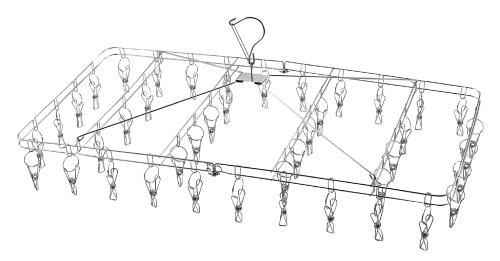 パール金属 洗濯 物干し ハンガー 42ピンチ 折りたたみ式 ステンレス サステイン H-8769