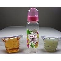 RebornボトルFake Formula Milk & Faux Apple Juiceベビーガール人形Hello Cutieセット