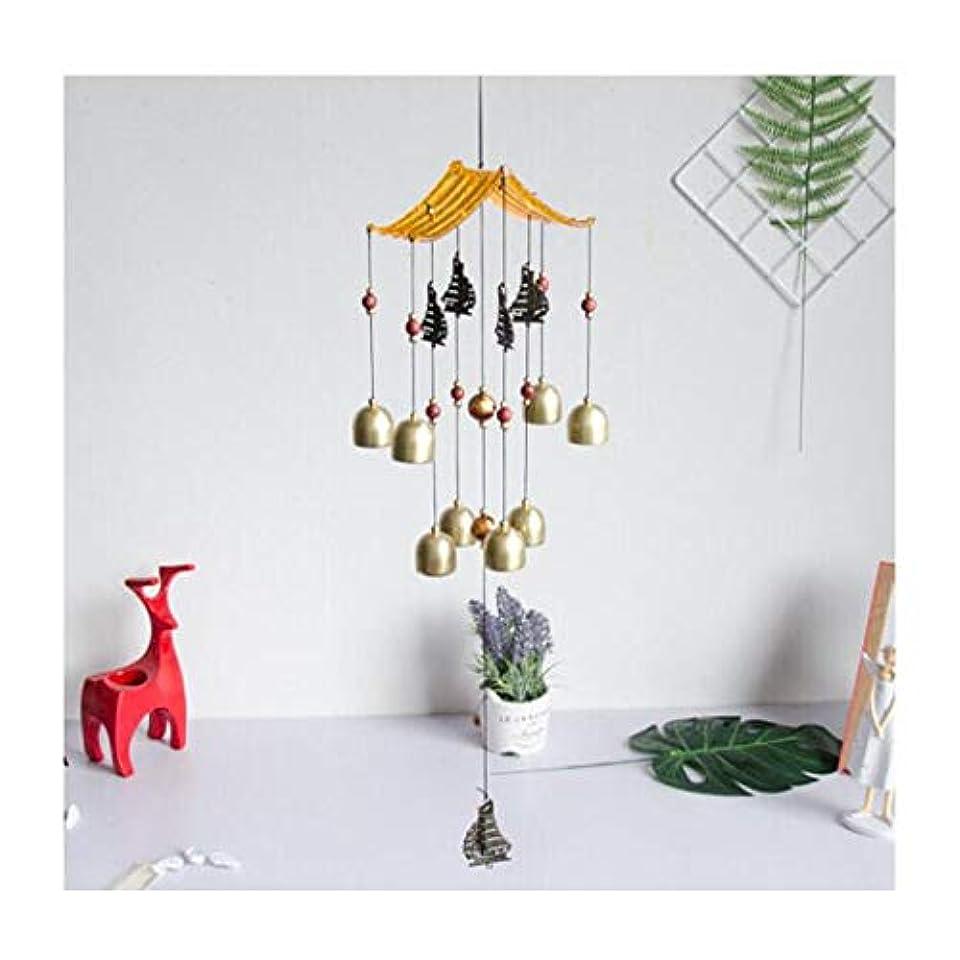 マウスマウスバイオレット風チャイム、金属銅鐘、ベッドルームバルコニー装飾、サイズ、62 * 13のCm (Color : Gold-A)
