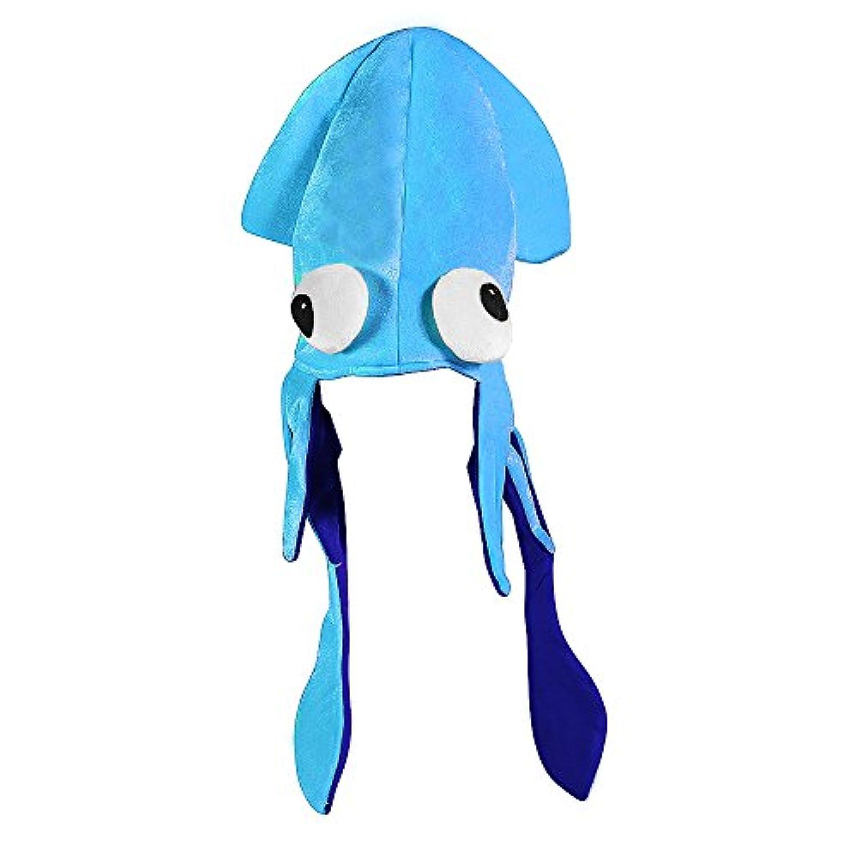 (カバーユアヘア)CoverYourHair ブルーイカ帽子ミックス - クレイジー目でブルーの大きなイカ帽子 【インポート】