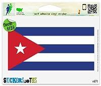"""キューバキューバ国立フラグ車ステッカーインドアアウトドア5"""" x 4"""""""