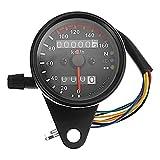 DELLING バイク用スピードメーター 最大速度表示160�/h 12V バックライト付き モンキー エイプ ダックス TW SR