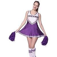 Fashoutlet Varsity College Sports Cheerleader Uniform Costume Outfit Purple M US 6 8